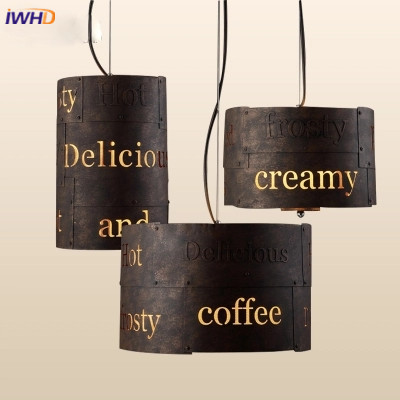 American Country Style Vintage Iron Pendant Light LED Industrial Loft Retro Droplight Bar Restaurant Cylindrical Hanging Lamp loft iron pendant light indutrial vintage loft bar cafe restaurant nordic country style birdcage pendant lights hanging lamp