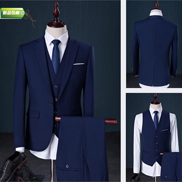 2016 nova primavera homens plus size ternos ternos masculinos 3 peça set moda Casual terno do casamento do noivo vestido formal fino
