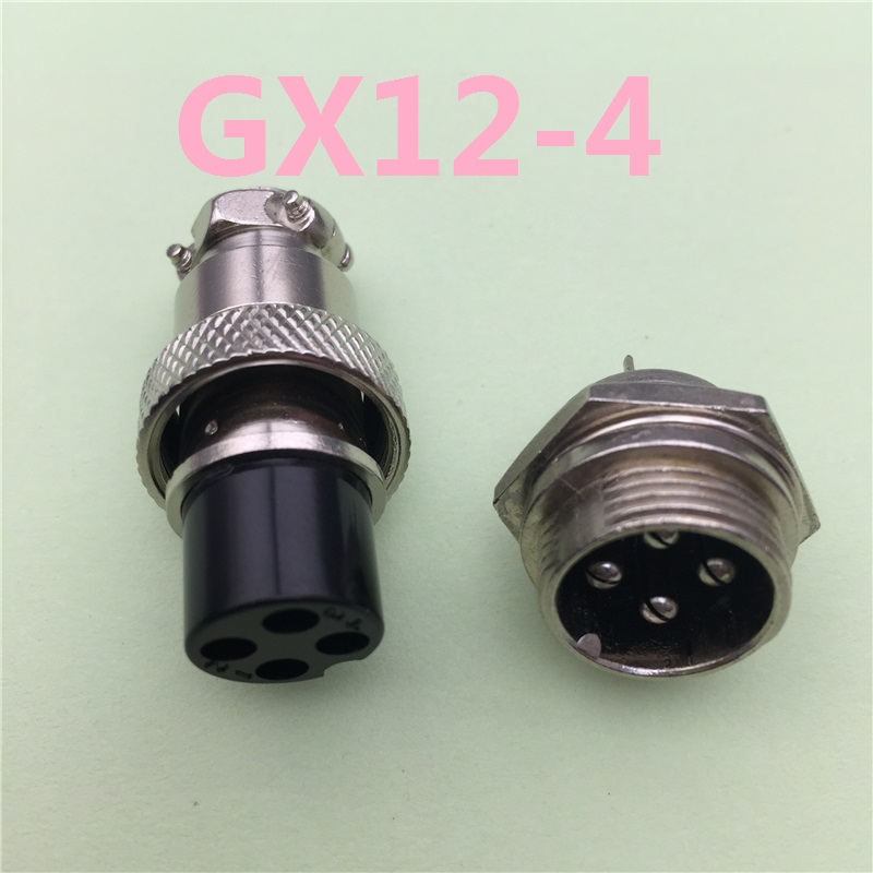 1pcs GX12 4 Pin Male & Female 12mm Wire Panel Connector Aviation Plug L90 GX12 Circular Connector Socket Plug Free Shipping 1 set 4pin professional speaker powercon wire connectors 4 pole plug male powercon 4 pin female jack socket panel male