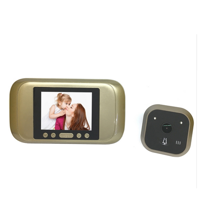 3.2'' Peephole Viewer Camera 720P HD PIR Auto Door Camera Monitor Photo Video Recorder TFT Home Anti Flicker Video Doorbell