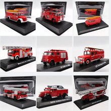 цена на Fire Engine Atlas 1:72 Scale Dodge Opel MB Iveco Magirus Metz Krupp DAF Pump Emergency Vehicle Diecast Models Toys Car