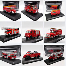 Fire Engine Atlas 1:72 Scale Dodge Opel MB Iveco Magirus Metz Krupp DAF Pump Emergency Vehicle Diecast Models Toys Car(China)
