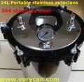 24 Litros Avanzado XFS-280B autoclave de esterilización esterilizador portátil de acero inoxidable 304 olla a Presión el envío libre