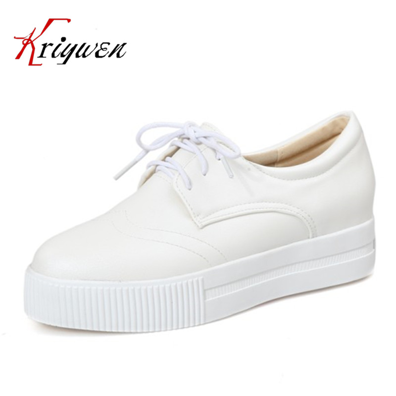ФОТО 2017 four season woman shoes white pink silver Round Toe Casual flats for women lace up Basic solid casual women flat size 34-43