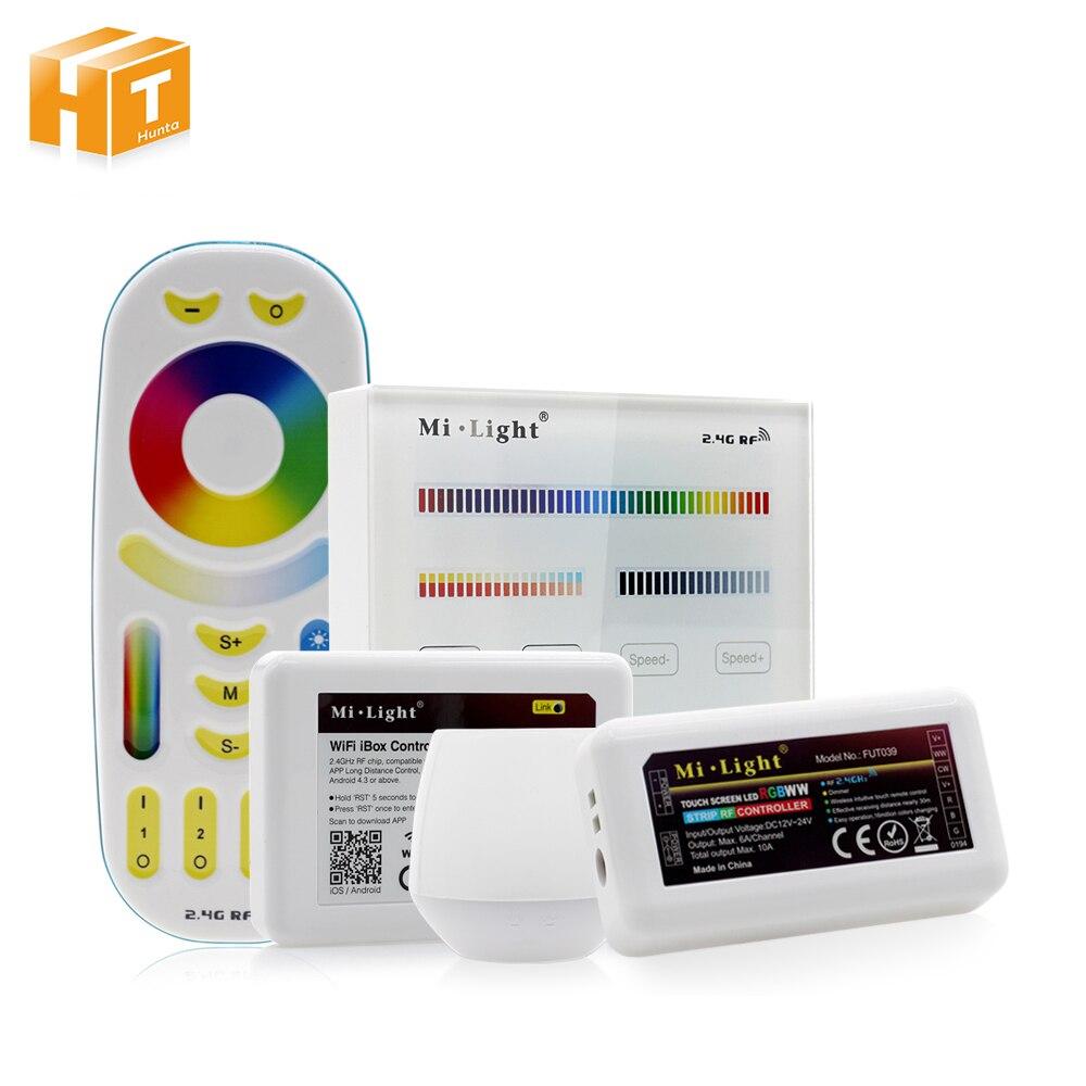 Mi Luce di Colore Completo HA CONDOTTO Il Regolatore RF 2.4g/Wifi Remote Control DC12-24V per RGB + CW + WW luce di Striscia del LED