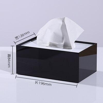 Мраморный узор, акриловая коробка для салфеток, креативный тканевый чехол для ванной комнаты, украшение для гостиной, держатель для бумаги в скандинавском отеле - Цвет: C