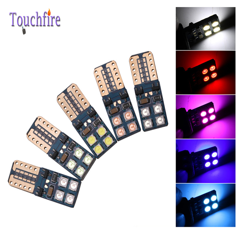 2pcs/lot 3030SMD LED cob 480LM Bulb 8led Auto Wedge Car lights 12v Width Interior Signal brake Lighting Car Styling Canbus w5w