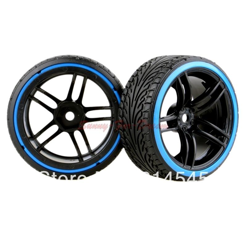4PCS RC Car 1:10 On-Road Drift Wheel Rims & Tyre Tires Fit HSP HPI 9065-5015 austar 4pcs wheel tires rims inflate beadlock pneumatic tyre 3021rd for 1 10 rc car