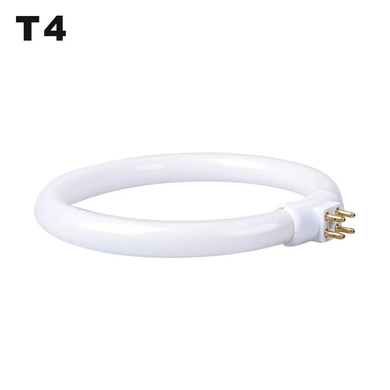 T4 Round Annular Tube 11W 110V & 220V G10q Fluorescent Ring Lamp 4 Pins Magnifying Glass Light Small Desk Lamps Bulb White