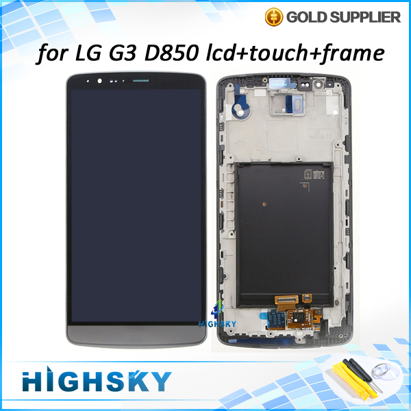 1 piece free shipping replacement screen for LG G3 D850 D851 D855 lcd display touch digitizer