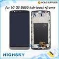 1 unidades el envío libre de reemplazo de pantalla para lg g3 d850 d851 d855 pantalla lcd + digitizador del tacto completo con marco