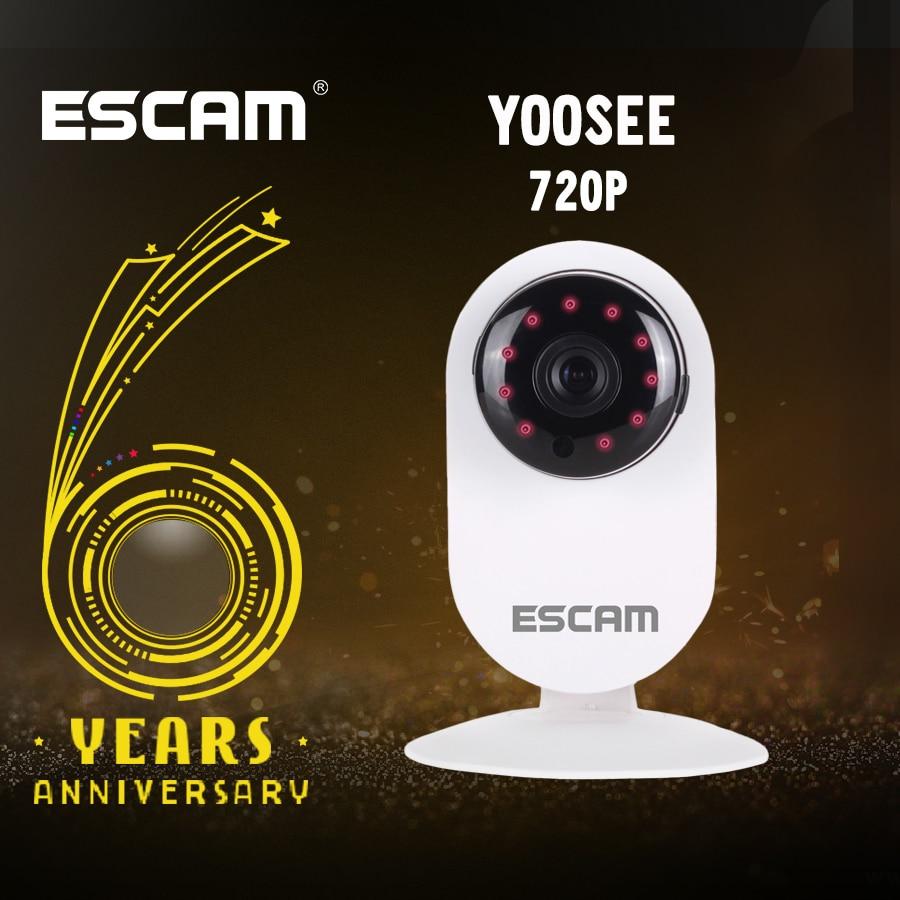 ESCAM QF605 HD 720P ONVIF Home Camera Mini IP Camera Night Vision IR-CUT 3.6mm H2.64