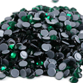 ss6,ss10,ss16,ss20,ss30 Emerald Top Quality DMC Iron On Glass Rhinestones/Hot fix Crystal Rhinestones with Strong Gray Glue