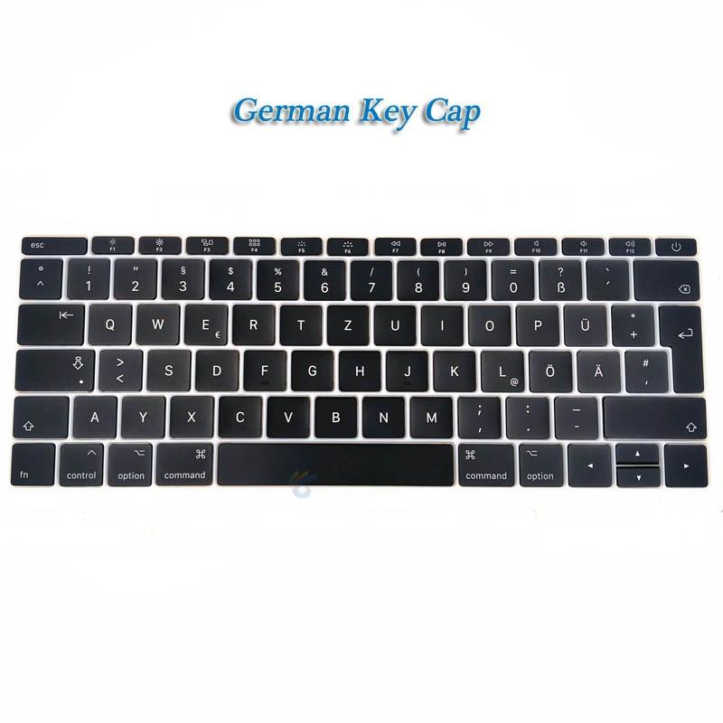"""A1708 клавишная крышка с белым зажимом для Macbook Pro 1"""" retina Key cap US/UK/французский/испанский/немецкий/японский/итальянский/Корейский - Цвет: German key cap"""