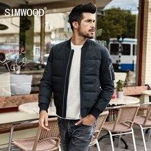 SIMWOOD Winter Jas Mannen Slim Fit 90% Witte Eend Jassen Mode 2019 Herfst Parka Mannelijke Slim Fit Black Bomber Grote size YR017004