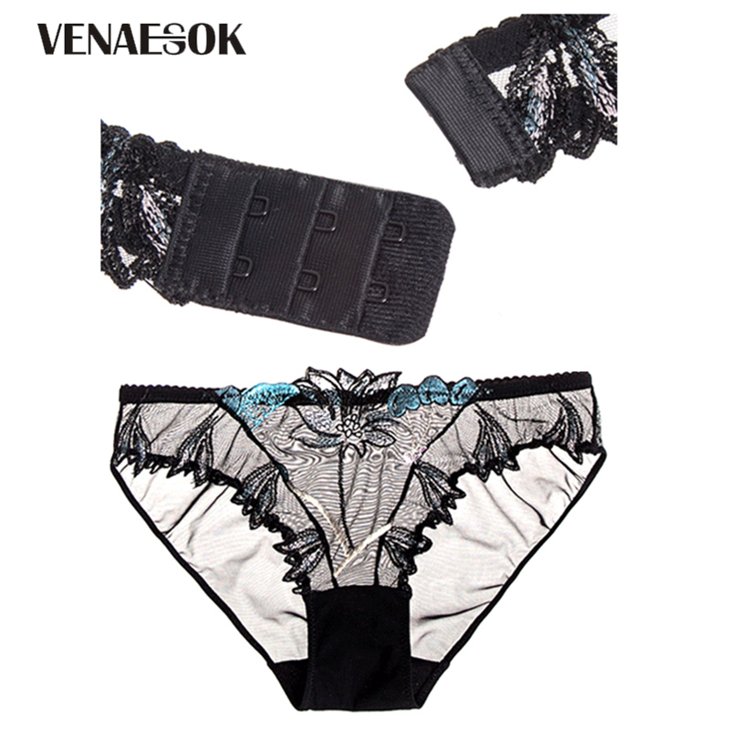 20efd97ca Europe Embroidery Flowers Pink Underwear Set Women Sexy Brassiere Hollow  out See Through Bra Lace Blue Transparent Lingerie Set -in Bra   Brief Sets  from ...
