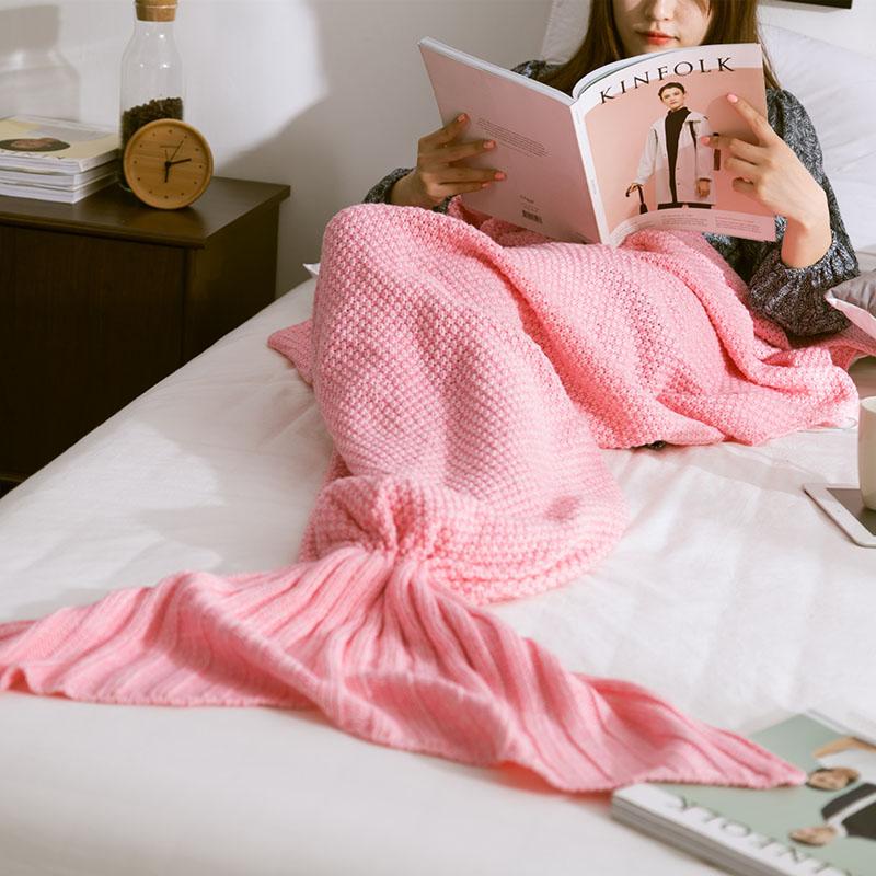 Hot-Mermaid-Blanket-Handmade-Knitted-Sleeping-Wrap-TV-Sofa-Mermaid-Tail-Blanket-Kids-Adult-Baby-crocheted (3)