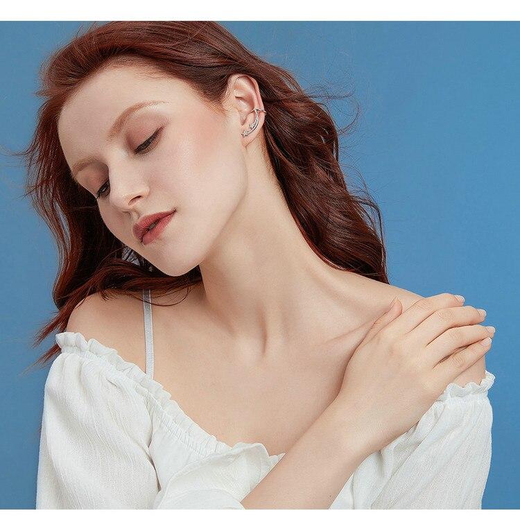 HTB1UdFPVYPpK1RjSZFFq6y5PpXaj BAMOER Star Comet Asymmetry Stud Earrings for Women Clear CZ Bright Meteor Ear Stud 925 Sterling Silver Jewelry Femme BSE087