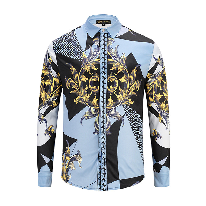 ab7579a8 Big promotion for men shirt floral gold and get free shipping - 1b42hk0j