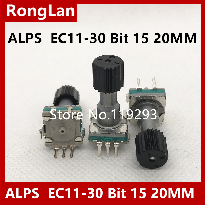 BELLA Authentic Japanese ALPS encoder EC11 30 Bit 15 rotary encoder with switch handle pulse