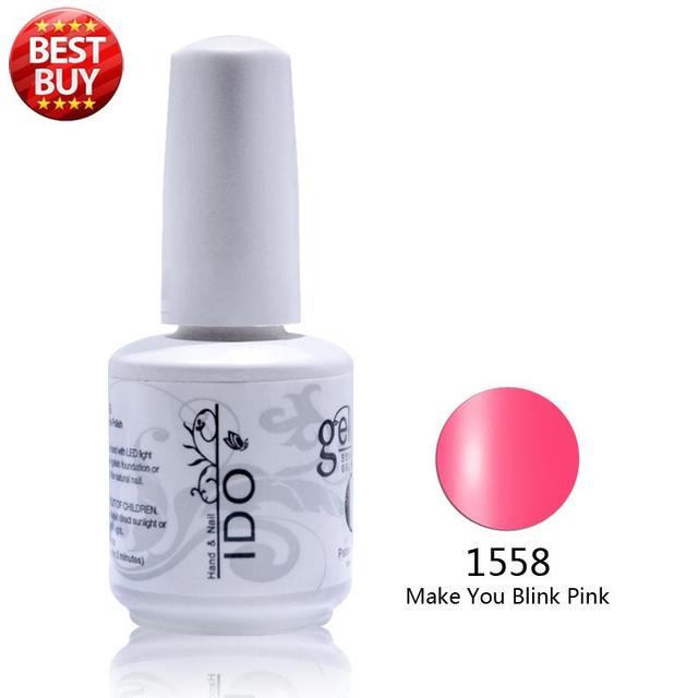 12pcs DHL  free shipping Uv primer gel nail polish LED nail gel (10colors+1top+1base)  IDO brand gel nail polish