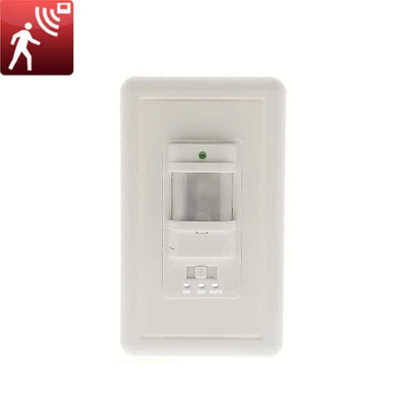 110V-220V ON OFF AUTO Wall Mount Motion Sensor Switch Automatic PIR Infrared Sensor Light Switch with 9m Max