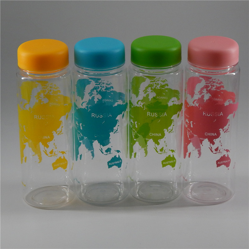 New Fashion My Water Bottle Fruit Juice Sport Portable Travel Botle PC Map Bottles for Water My Bootl 500ml silicone bottles ...