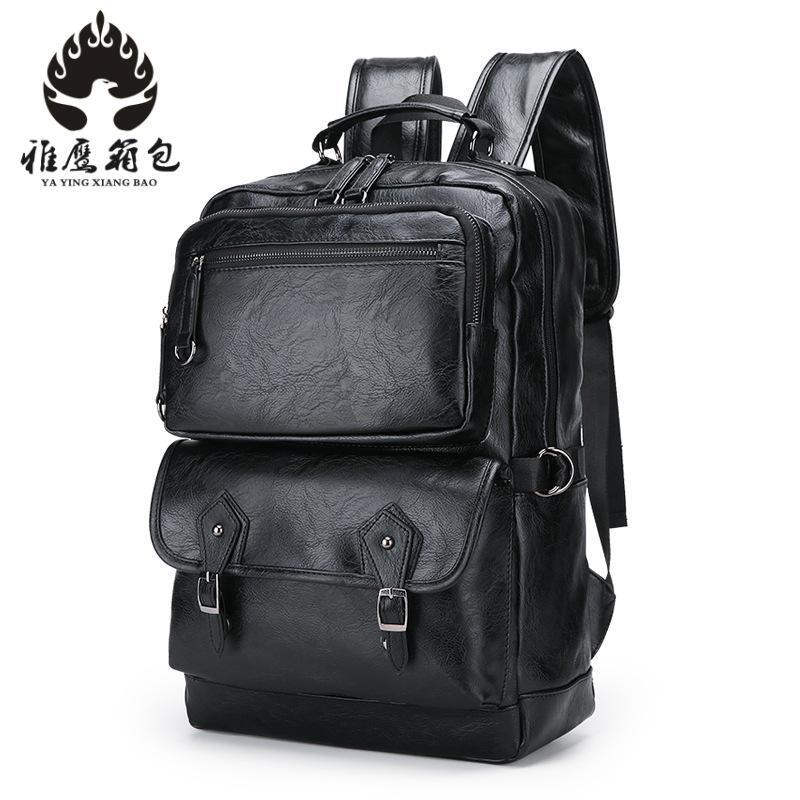 2018 Brand Waterproof Laptop Backpack Men Pu Leather Backpacks For Teenager Men Casual Daypacks Mochila Male men s backpack men pu leather travel backpack casual male daypacks laptop backpack men large capacity backpacks for teenager