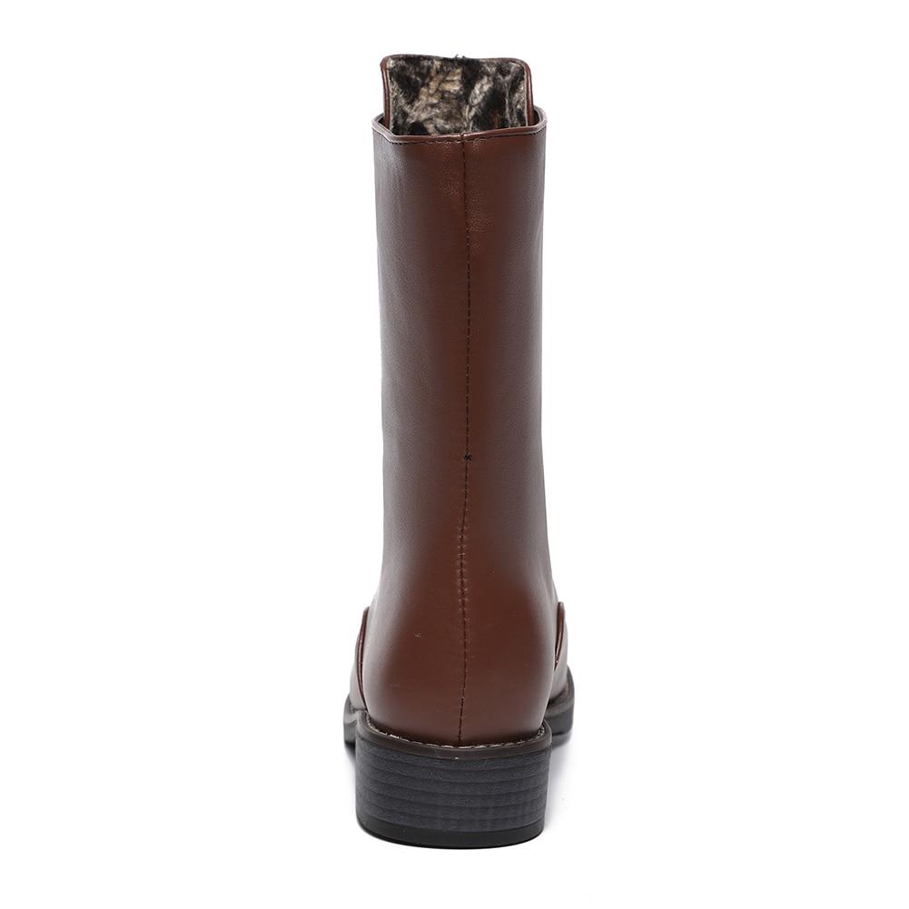 Medio 43 Mujer Pantorrilla Ocio Grande Novedad Talla Botas 34 marrón Negro Zapatos Negro Up Moda Marrón Doratasia Zip Martin xp6qIx