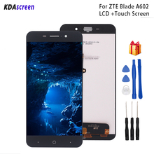 цена на For ZTE Blade A602 LCD Display Touch Screen Digitizer Replacement For ZTE Blade A602 Display Screen LCD Phone Parts Free Tools