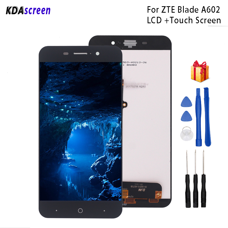 For <font><b>ZTE</b></font> <font><b>Blade</b></font> <font><b>A602</b></font> <font><b>LCD</b></font> <font><b>Display</b></font> Touch Screen Digitizer Replacement For <font><b>ZTE</b></font> <font><b>Blade</b></font> <font><b>A602</b></font> <font><b>Display</b></font> Screen <font><b>LCD</b></font> Phone Parts Free Tools image