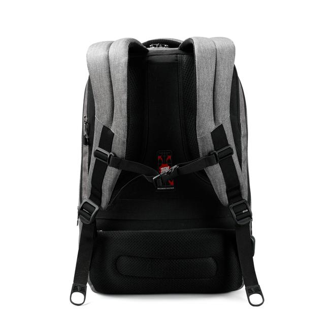 2017 New Design Tigernu brand men backpack anti-theft External USB charge port for 14″ 17″ laptop backpack school backpack bag