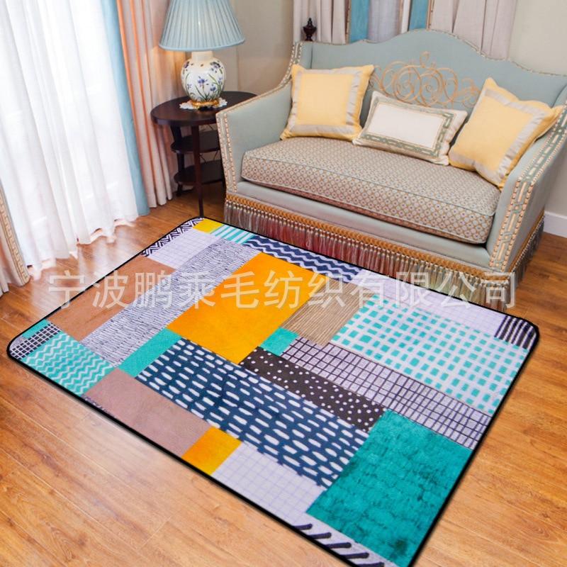 Nouvelle personnalité abstraite tapis de puzzle pour salon enfants chambre tapis et tapis ordinateur chaise tapis de sol tapis de vestiaire