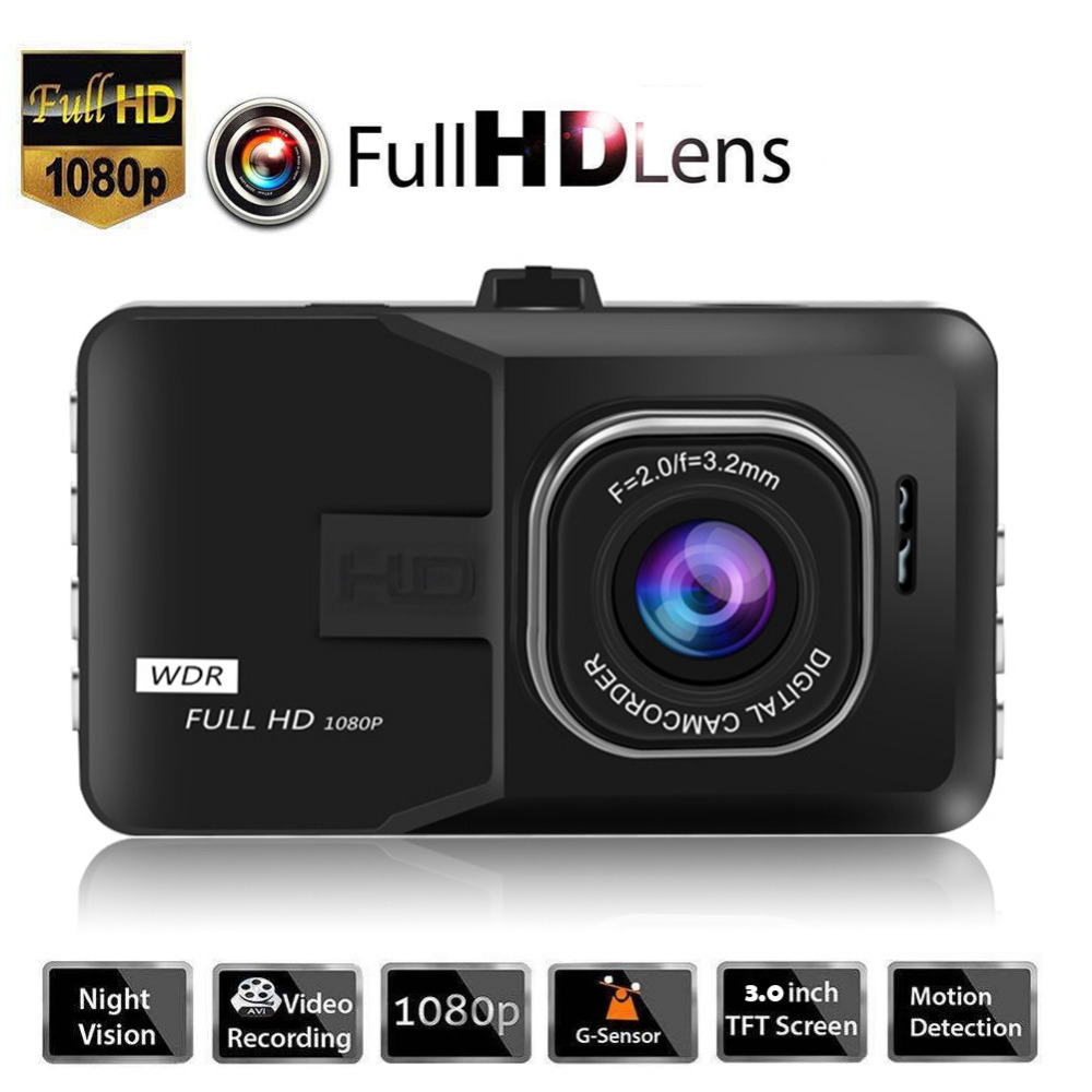 3 Inch Dash Camera Car DVR Rigister 1080P Dash Cam Video Recorder Vehicle Blackbox DVR For Driving Recording Car Detector/G30 цена