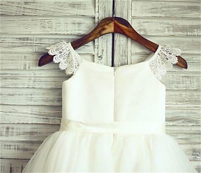 Brand New Flower Girl Dresses With Sashes Sweet Communion Party Pageant Dress Little Girls Kids/Children Dress for Wedding