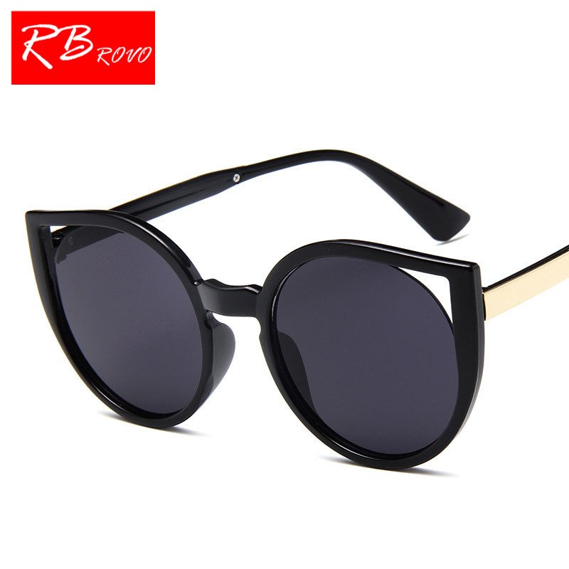 RBROVO 2018 Classic Cateye Sunglasses Women Fashion Vintage Sun Glasses Shopping Candy Color Goggle Oculos De Sol Female UV400