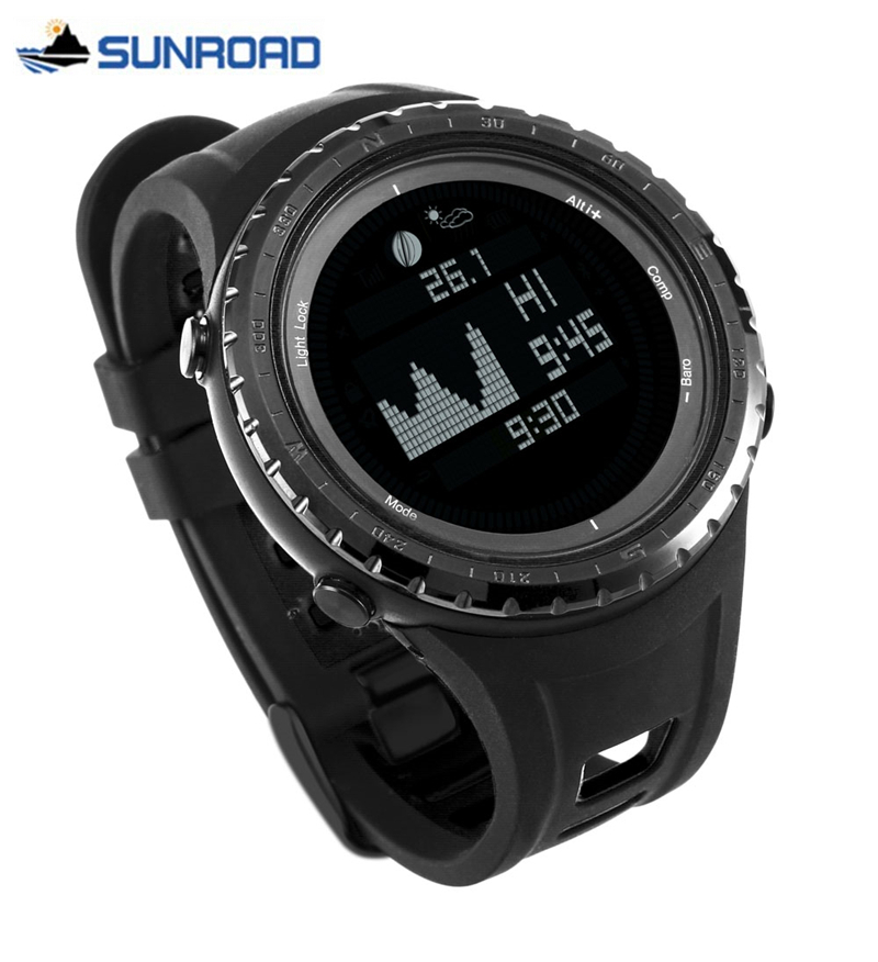 SUNROAD hommes montres Top marque de luxe numérique Sport montre hommes monde temps marée montre-bracelet militaire armée horloge Relogio Masculino