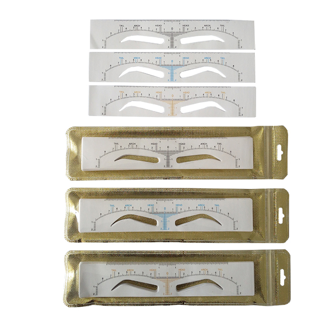 25pcs Disposable Eyebrow Ruler Sticker Microblading Accessories Eyebrow Stencil Shaping Measure Tools Permanent Makeup Supplies 2