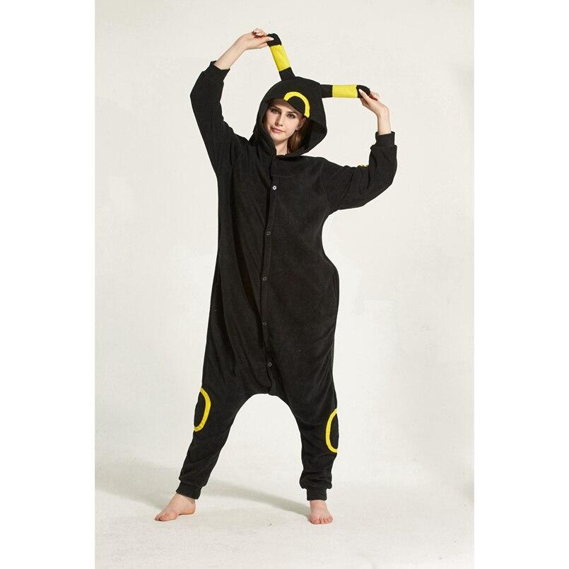 29f72f8e0 Pokemon Umbreon Animal Pajama Onesie Hoodie For Adult Women Men Pyjama Pijama  Halloween Holiday Sleepwear Fleece Full Length