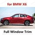Стайлинг автомобиля из нержавеющей стали украшение для стекла автомобиля аксессуары с колонкой для B-MW X6 полное окно автомобиля отделка