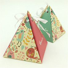 Love Match 50pcs lovely birds baby shower candy box  favor box baby shower gift box party supplies