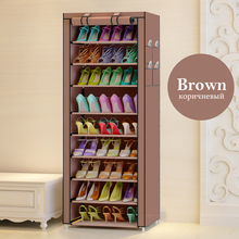 3 colors 9 Tier Shoe rack Canvas Shoe Stool Storage Rack Rail Shoe Organizer Zipper Permanent Sapateira