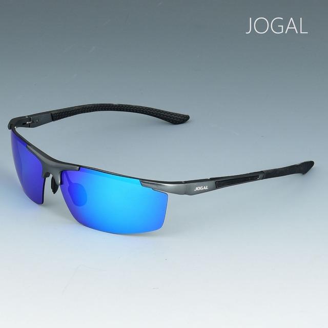 Jogal sem aro óculos polarizados dos homens óculos de condução ao ar livre pesca uv400 óculos shades 8802