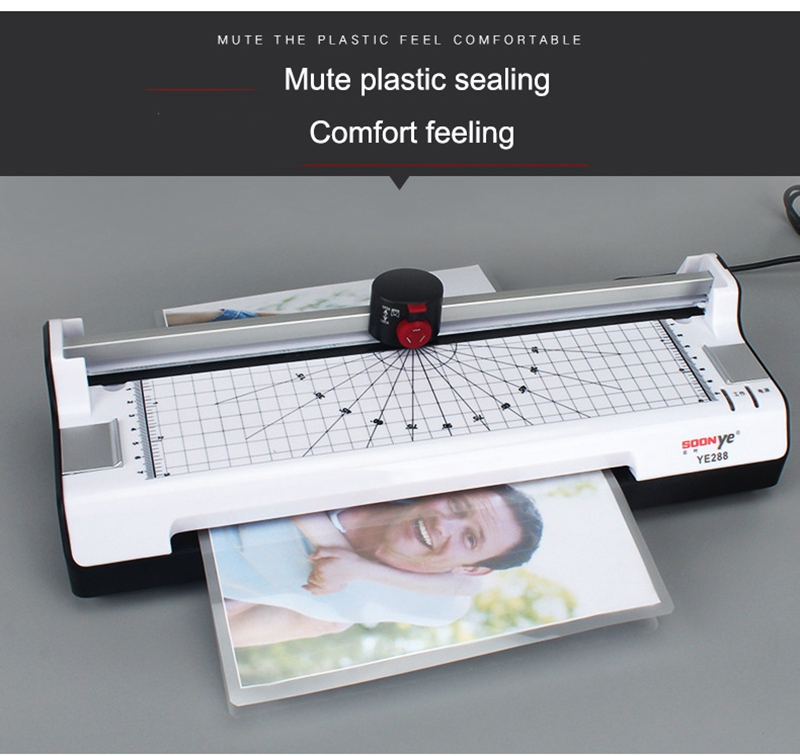 Multifunctional Hot and Cold Thermal Laminating Machine With EU Plug Functions