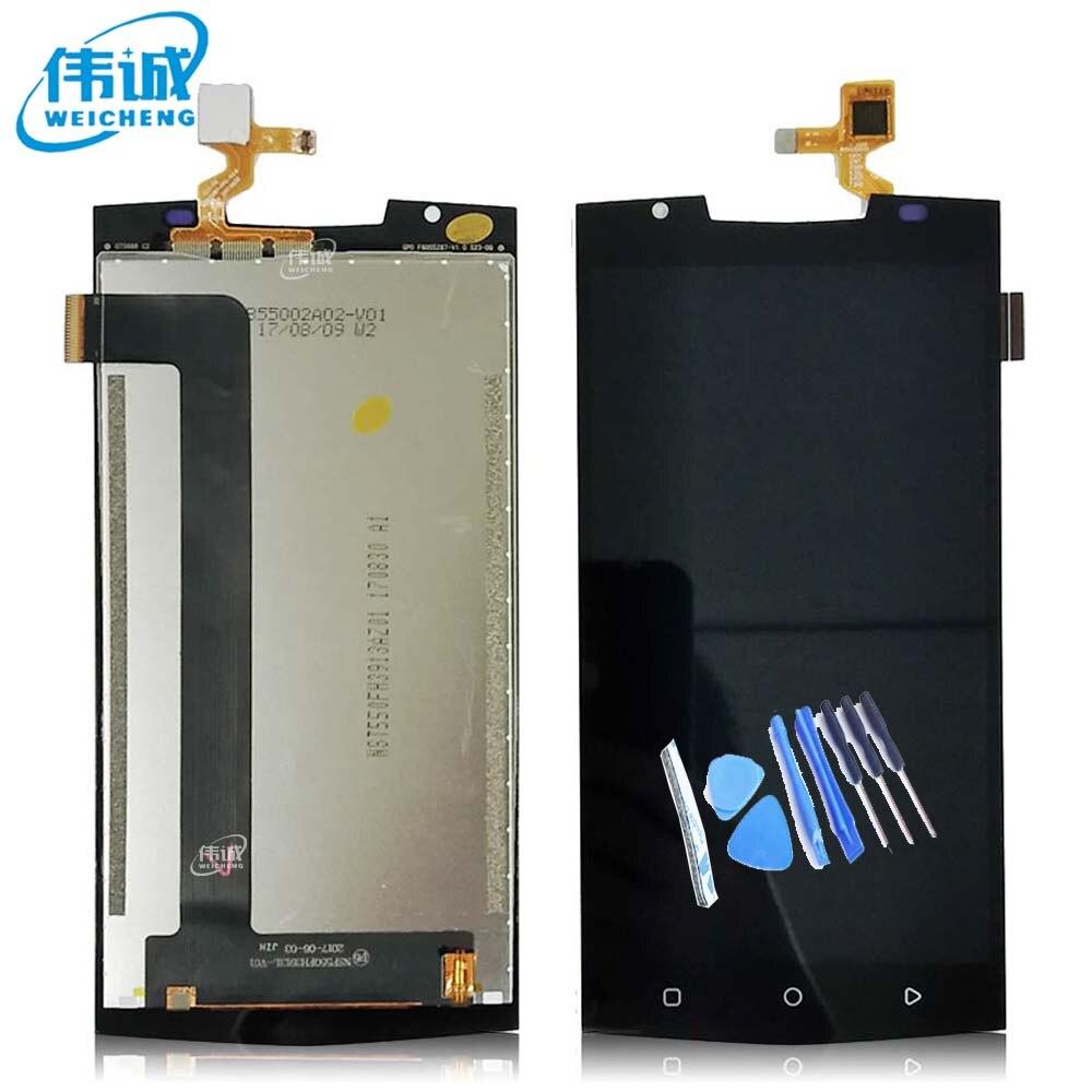 WEICHENG Für Oukitel K10000 Pro LCD Display + Touch Screen 100% Getestet LCD Digitizer Glas Ersatz Für K10000 Pro + kostenlose Tools