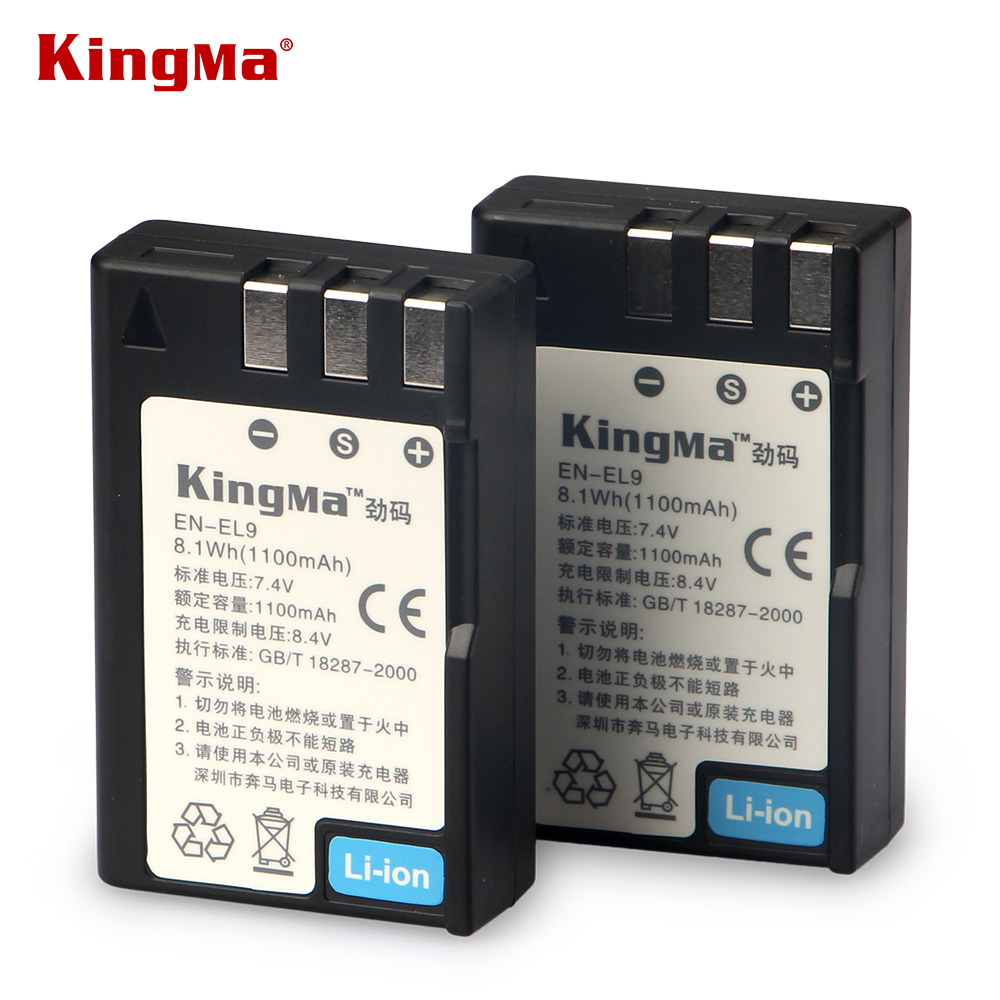 KingMa Original EN-EL9A EN EL9A ENEL9A Camera Lithium Battery Pack for Nikon D60 D40 D40X D5000 D3000 EN-EL9 ENEL9 MH-23 bateria