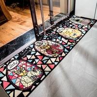 Cute Cat Large Size Nylon Soft Carpet Area Rugs Slip Resistant Floor Mats For Parlor Living