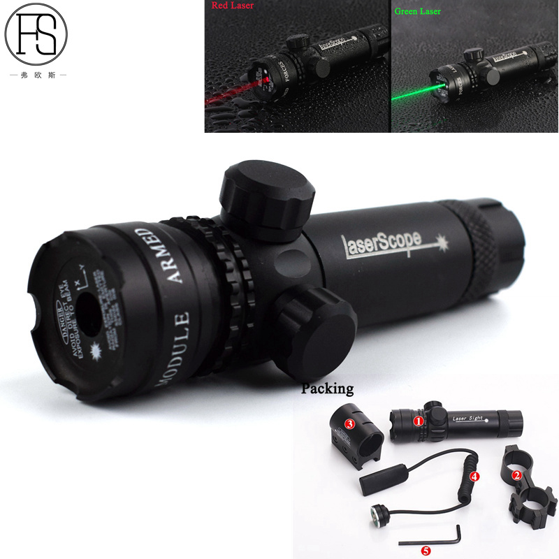 Tactical Green / Red Dot Laser Sight Rifle Adjustable Hunting Airsoft sport Gun Scope Rail