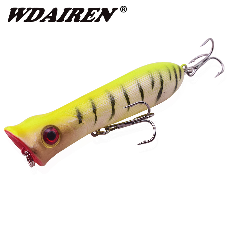 1Pcs 8cm 12g Popper Wobbler Fishing Lures 3d Eyes Bait Crankbait Wobblers Tackle Isca Poper Japan Hand Fishing Lure WD-208 1pcs 3d eye wobbler fishing lure 8 5cm 6 8g japan swimbait pesca crazy wobble crankbait swimming bait fishing tackle