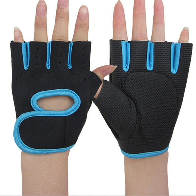 2018 Gym Gloves Sports Fitness Adult Weightlifting Half Finger Training Gloves Fitness Exercise Cycling Sport Gloves